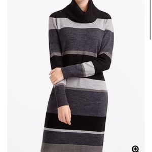 Striped Turtleneck Sweater Dress✨